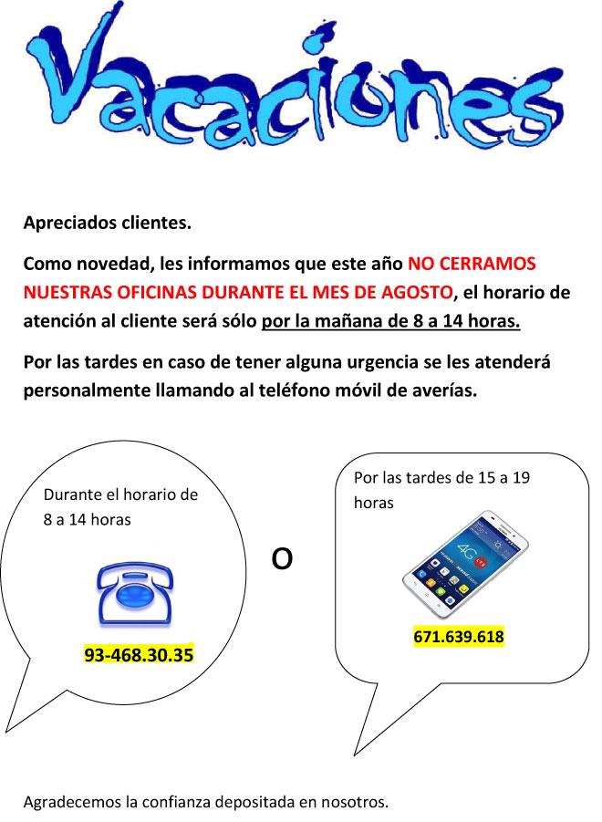 Norestim Puertas Automáticas VACACIONES 2017